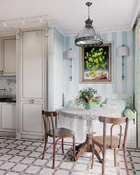 wallpaper for dining rooms three room apartment in provence style for a family with 2 kids