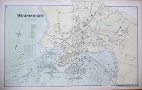 Rhode Island On Map Woonsocket Rhode Island Antique Maps And Charts U2013 Original