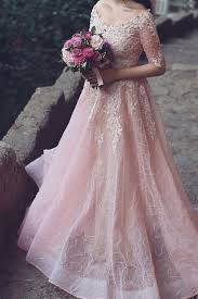 Pink Wedding Dresses With Sleeves Best 25 Bridesmaids Gowns With Sleeves Ideas On Pinterest