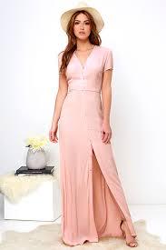 glamorous blush blush pink pink maxi dress vida bonita glamorous