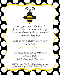 bumblebee baby shower baby shower invitations