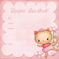 How To Make Invitation Cards At Home Girls Birthday Invitations Cloveranddot Com