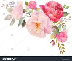 Included by Watercolor Floral Composition Clipping Path Included Stock