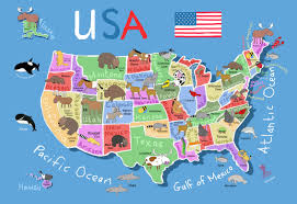 50 State Map United States Map For Kids Map Preggers Us