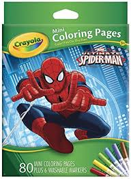 amazon crayola ultimate spiderman mini coloring pages toys