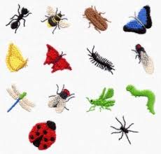 miniature bug embroidery designs insects ant bee beetle butterfly
