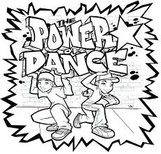 dance party coloring pages hip hop best images on drawings