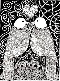 love birds animals coloring pages for adults justcolor