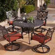 Orchard Supply Patio Furniture by Madrid 48 Inch Round Cast Aluminum Table Dining Furniture