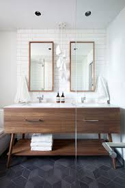 5 bathroom mirror ideas for a double vanity contemporist 5 bathroom mirror ideas for a double vanity two rectangular mirrors adds height to