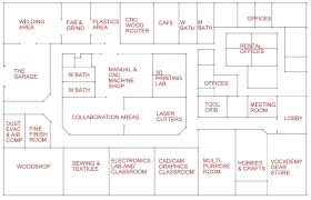 vocademy floorplan makerspace pinterest