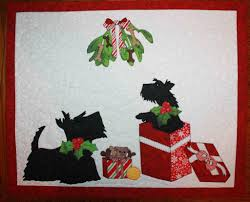scottie dogs christmas quilted wall hanging quilts dogs cats