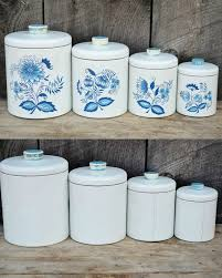 blue and white kitchen canisters 89 best ransburg canisters images on kitchen canisters