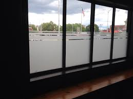 half frosted glass for our store front window to help with privacy
