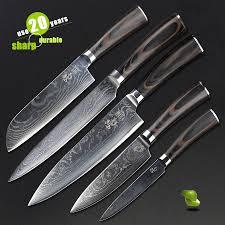 online get cheap damascus steel kitchen knife set aliexpress com