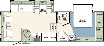 Forest River 5th Wheel Floor Plans 2011 Forest River Wildcat 29rlbs Fifth Wheel Owatonna Mn Noble Rv