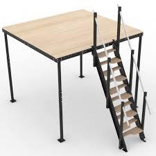 alternating tread stairs m mezzaninesonline com