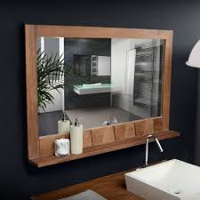 Bathroom Mirror With Shelves Bathroom Mirror Shelf Attached Top Bathroom Pros And Cons Of