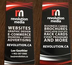 we created a double sided rack card for a trade show more print