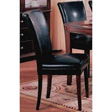 Leather Parsons Chairs Black Bi Cast Leather Parson Chair Set Of 2 Free Shipping