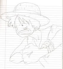 monkey d luffy pencil sketch by koto chan101 on deviantart