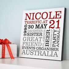 21 birthday card design personalised 21st birthday typographic art
