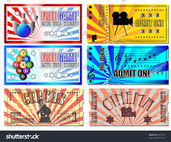 admit one home theater sport cinema concert circus tickets stock vector 86257501