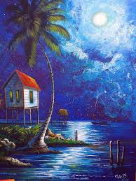 beautiful homes photo gallery painting of a full moon on the beach sailboat homes on stilts