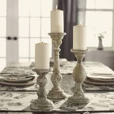 farmhouse home accents aged grey candlestick u2013 sm
