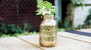 jar vases diy lace jar vase