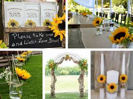 Sunflower Wedding Decorations Sunflower Wedding Ideas For An Amazing Country Wedding