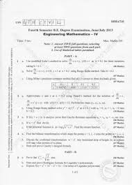 4th semester civil engineering 2013 june question papers