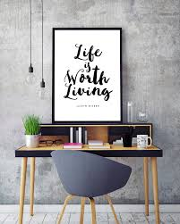 Poster Frame Ideas by Justin Bieber Life Is Worth Living Lyric Art Print Bieber Poster