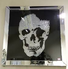 gothic skull wall mirror u2022 bathroom mirrors and wall mirrors