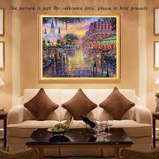 diy handmade diamond painting set urban night scene resin sales