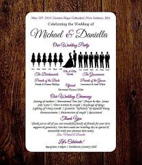 wedding programs template free diy wedding program template choose number of silhouettes