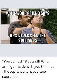 The Sopranos Meme - our hens never seen the sopranos you ve had 18 years what am i