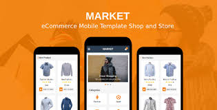 market ecommerce mobile template shop and store by rabonadev