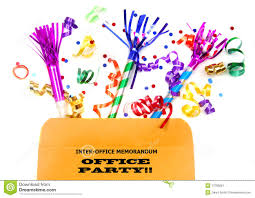 inter office folder with party favors stock image image 13786281