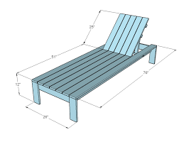 Free Building Plans For Outdoor Furniture by Ana White Build A Single Lounger For The Simple Modern Outdoor