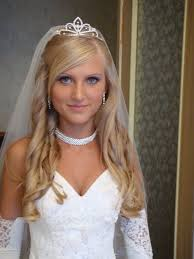 wedding hairstyles for long half up half down straight