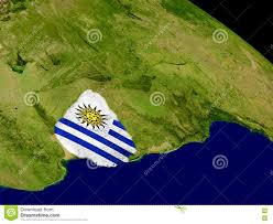 Flag Uruguay Uruguay With Flag On Earth Stock Illustration Image Of Political