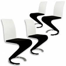 chaise noir et blanc deco in 2 table oamaru 4 chaises design noir et blanc oamaru 4ch