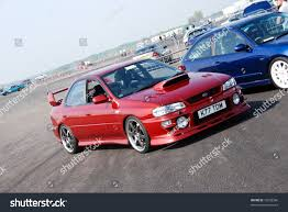 subaru red northants england may 11 red subaru stock photo 75228586