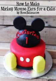 mickey mouse cake how to make mickey mouse ears for a cake bakes
