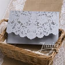 laser cut wedding programs graceful pearl white laser cut pocket wholesale wedding invitation