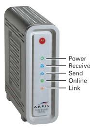 arris surfboard sb6141 blinking lights docsis 3 0 cable modem