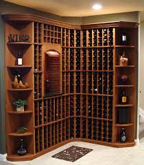 interior wooden racks of home wine cellar designs with