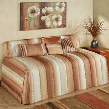 bolster bed pillows mirage ombre striped quilted hollywood daybed cover