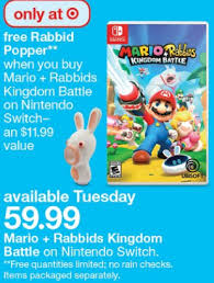target hutchinson black friday hours target u2013 free rabbid popper when you buy mario rabbids kingdom